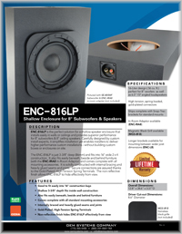 In-Ceiling / Wall Subwoofers Catalog - Thumb