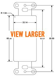 5 Way Binding Post Jack Plate Pro Wire Iwm 4bpg Oem