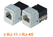 Pro-Wire RJ-11 / RJ-45 Connectors - Thumbnail